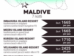 Maldive 7 notti da € 1665
